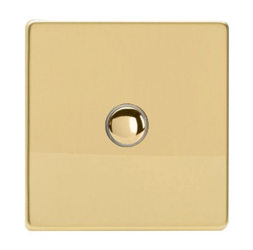 Varilight IJDVS001S Screwless Polished Brass 1 Gang Touch Dimming Slave (use only with Master)